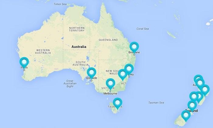 ICC world cup 2015 venues australia new zealand.