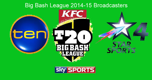 KFC big bash league 2014-15 official broadcasters and telecasters.