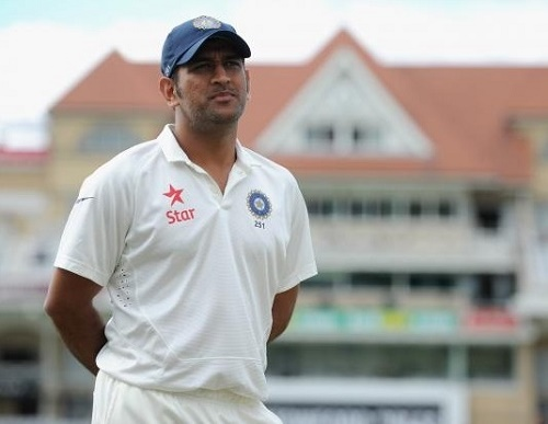 Mahendra Singh Dhoni retires from test cricket.