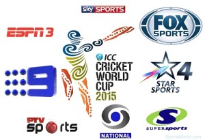 2015 cricket world cup broadcasters, tv channels telecast and live streaming info.