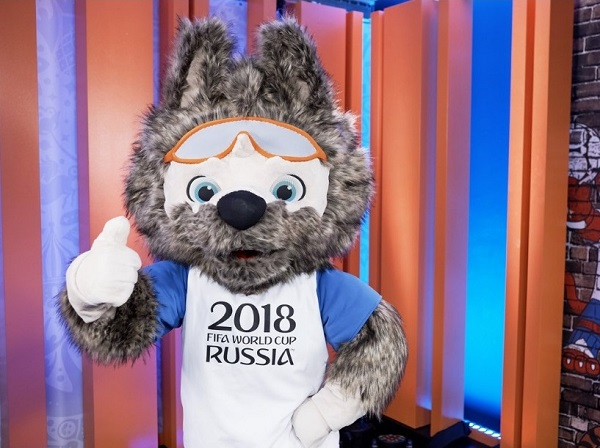 2018 FIFA world cup official mascot zabivaka
