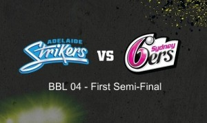 Adelaide Strikers vs Sydney Sixers semifinal-1 bbl-04 at adelaide oval.