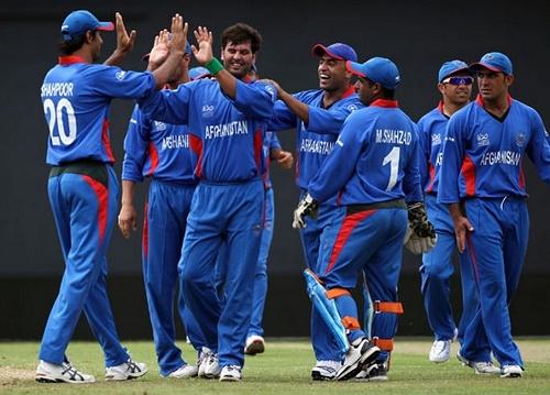 Afghanistan cricket team for Dubai Triangular series 2015.