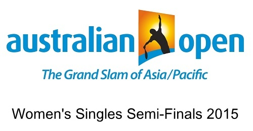 Australian Open 2015 Women's Singles semi-finals line-up.