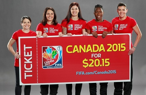 Buy 2015 FIFA Women's World Cup Canada tickets for just 20.15 dollars.