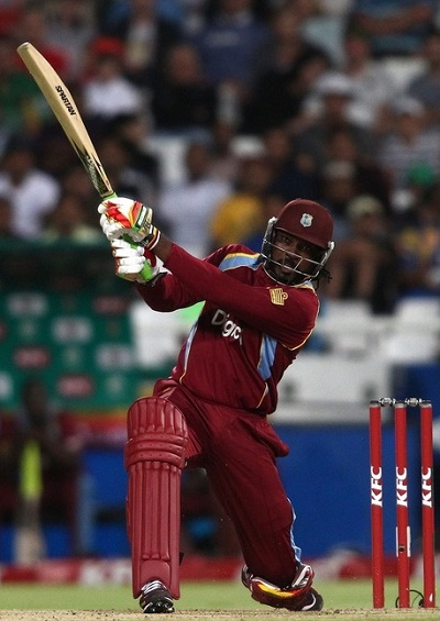 Chris Gayle scores fastest fifty for West Indies in T20I.