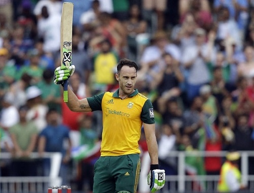 Faf du Plessis scored first hundred in Twenty20 cricket.