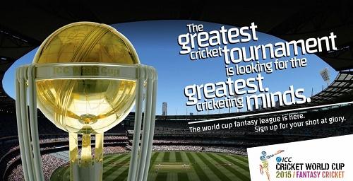 ICC declares fantasy league for 2015 cricket world cup.
