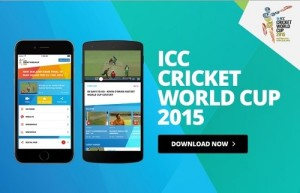 ICC launches official app for 2015 cricket world cup.