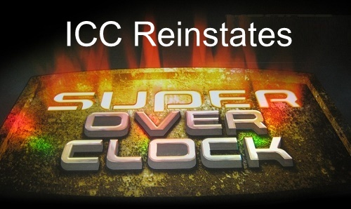 ICC reinstates use of super over in cricket world cup.