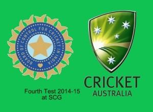India vs Australia 4th test 2014-15 Sydney Cricket Ground.