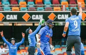 Indian batting order collapse cause Gabba ODI against England in tri series.