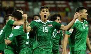Iraq beat Iran by 7-6 in quarterfinal to qualify for semifinal of asian cup 2015.