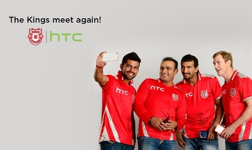 Kings XI Punjab declares HTC official sponsor for IPL 2015.