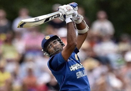 Mahela Jayawardene hits 18th ODI hundred against NZ in Christchurch.