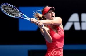 Maria Sharapova qualify for Australian open quarterfinal 2015 to face Eugenie Bouchard.