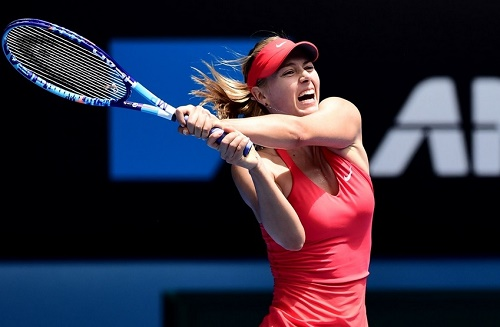 Maria Sharapova qualify for Australian open quarterfinal 2015 to face Eugenie Bouchard.