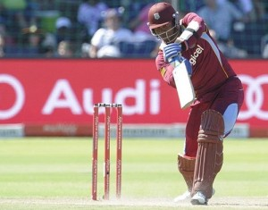 Marlon Samuel fifty lead West Indies to fight against South Africa at Port Elizabeth.