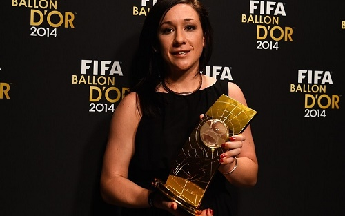 Nadine Kessler wins FIFA Women's Player of the year 2014 award at Gala.
