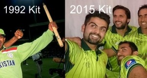 Pak launch similar kind kit color for 2015 CWC that 1992 team had