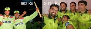New kit of Pakistan cricket team looks like 1992 world cup winning team had.