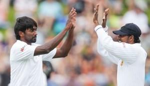 Nuwan Pradeep took 4 wickets against NZ in Wellington test.