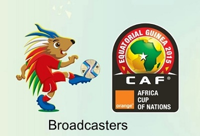 Orange Africa Cup of Nations 2015 telecasting nations and broadcasters.