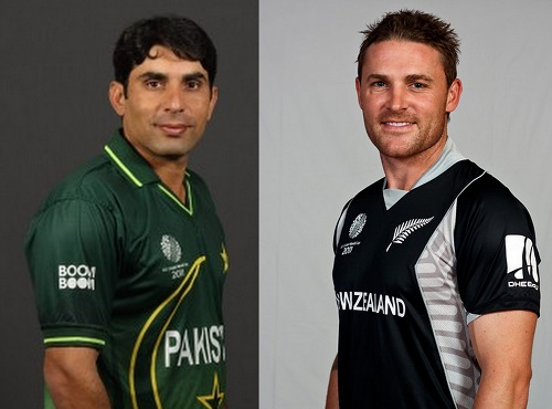 Pakistan, New Zealand teams for two ODIs series 2015.