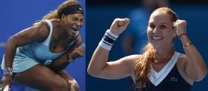 Serena Williams vs Dominika Cibulkova quarterfinal live streaming score australian open 2015 details.