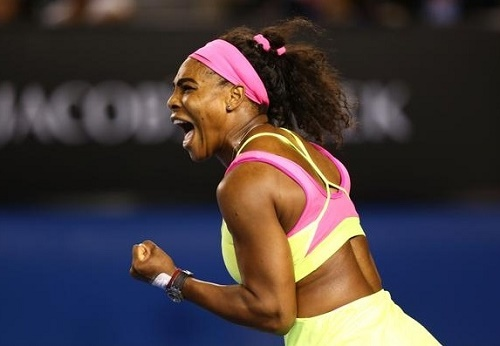 Serena williams wins 19th grand slam by defeating Maria Sharapova.