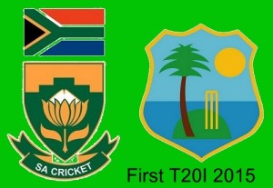 South Africa vs West Indies 1st Twenty20 2015 at Cape Town.