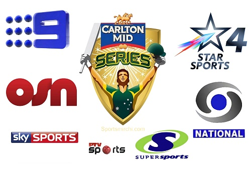 Watch live telecast, streaming of Carlton mid ODI tri-series 2015.