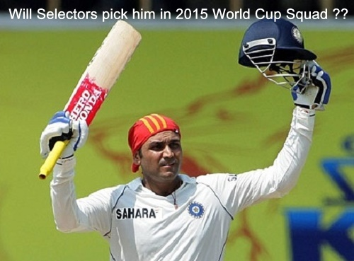 Will Virender sehwag's successive hundred help him to get place in Indian world cup squad.