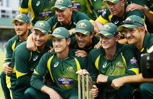 Australia beat England by 112 runs to win tri-series 2015.