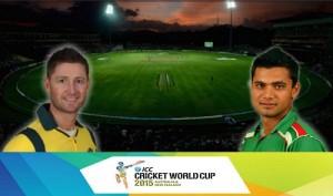 BAN vs AUS cricket match live streaming, score, telecast 2015 world cup.