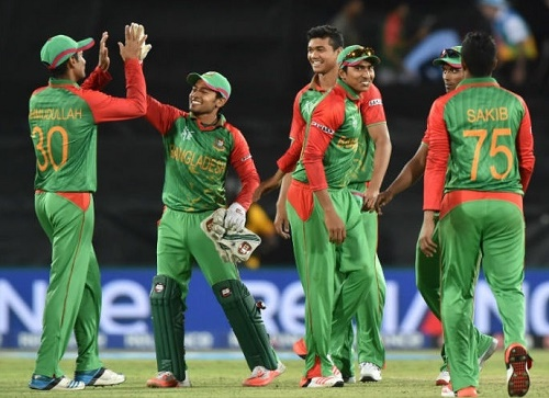 Bangladesh beat Afghanistan in 2015 world cup pool A match.