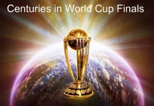 Centuries scored in cricket world cup finals.