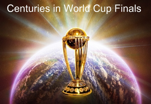 Centuries scored in cricket world cup finals.