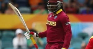 Gayle becomes first batsman to score double ton in world cup