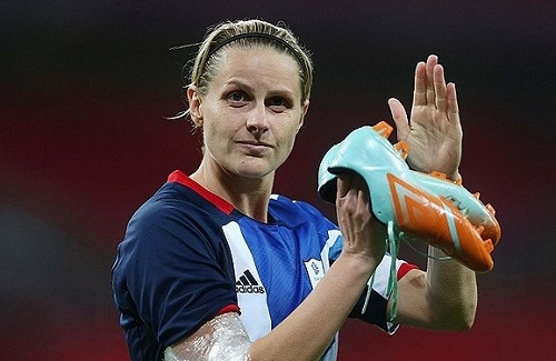 England Women's footballer Kelly Smith declared retirement from international duty.