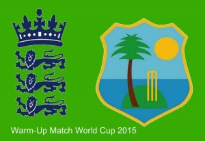 England vs West Indies warm-up 2015 world cup preview and live streaming info.