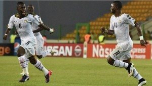 Ghana beat Equatorial Guinea to qualify for 2015 africa cup of nations final.