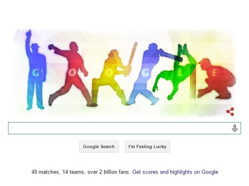 Google Doodle for 2015 cricket world cup.