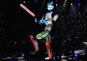 ICC cricket world cup 2015 opening ceremony robot image.
