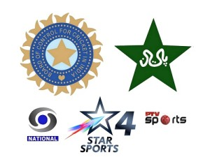 India vs Pakistan 2015 world cup broadcasters, tv channels and live streaming details.