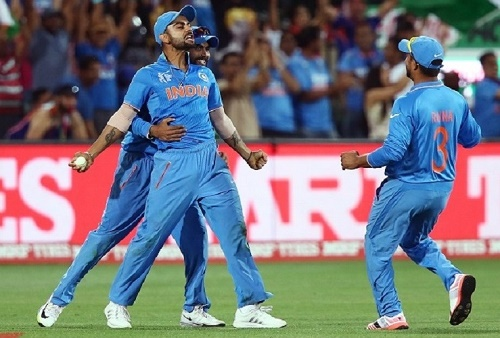 India won by 76 runs against Pakistan and defeat pak 6th time in cricket world cup match.
