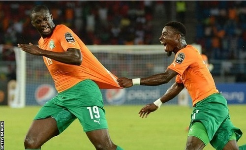 Ivory Coast beat DR Congo by 3-1 to qualify for africa cup of nations final 2015.