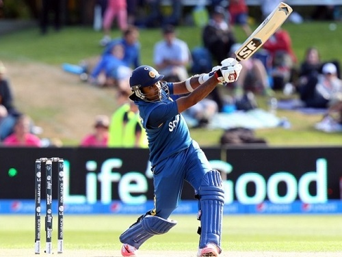 Mahela Jayawardene hundred beat Afghanistan in 2015 world cup.