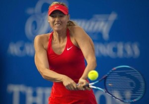 Maria Sharapova beat Rogers in debuting Mexico Open game.