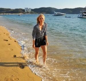 Maria Sharapova enjoyed at Acapulco.